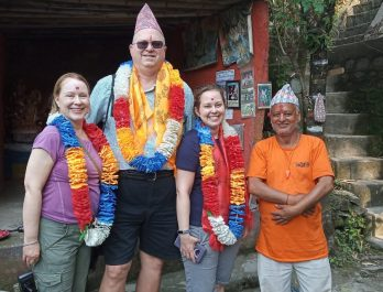 Pokhara tour with our client
