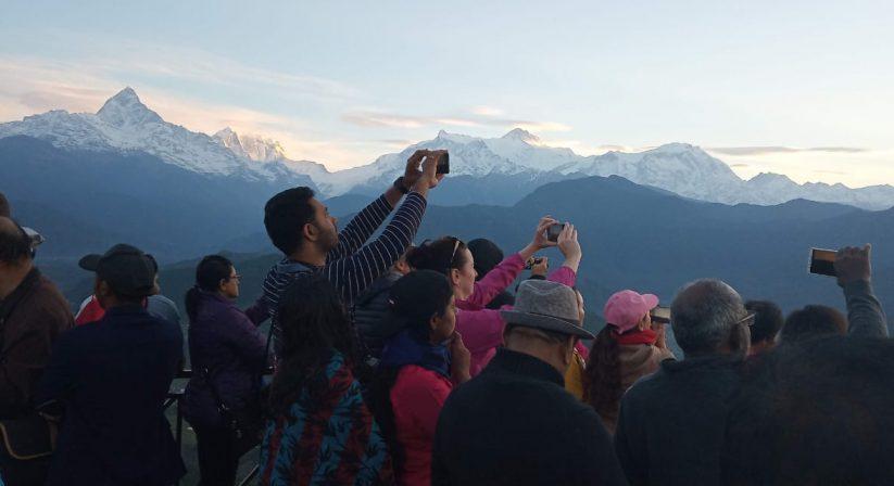 Sunrise view from Sarangkot Pokhara