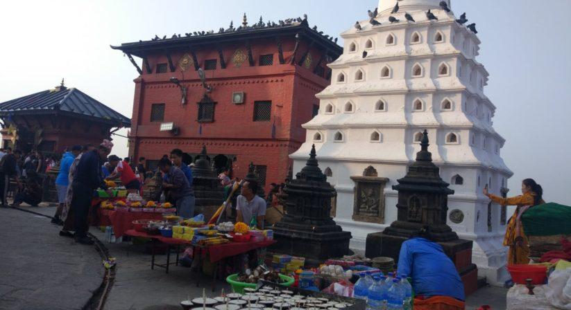 Around Swoyambhunath stupa monkey temple