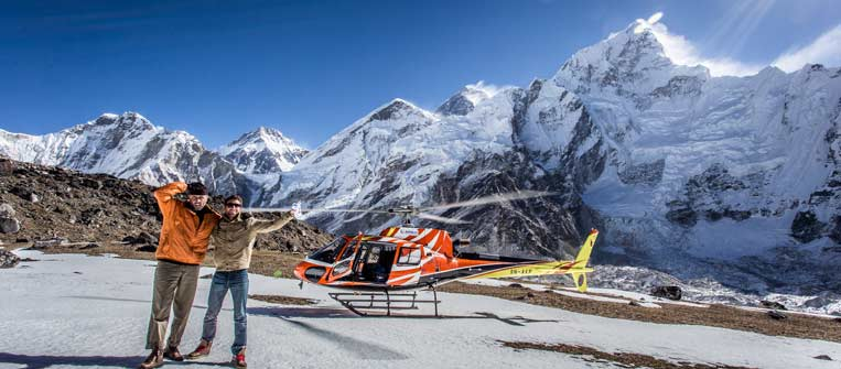 Everest helicopter ride at kalapatthar. By: Eric