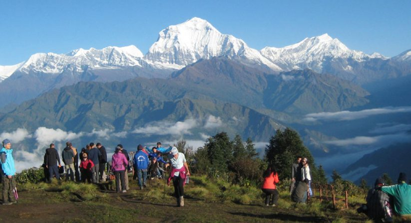 Mountains view from Poonhill, Annapurna Trek