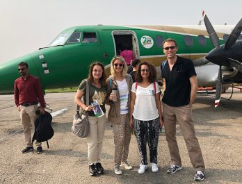 Everest Mountain flight by Turkish people