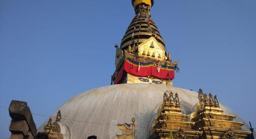 Swoyambhunath stupa view from top