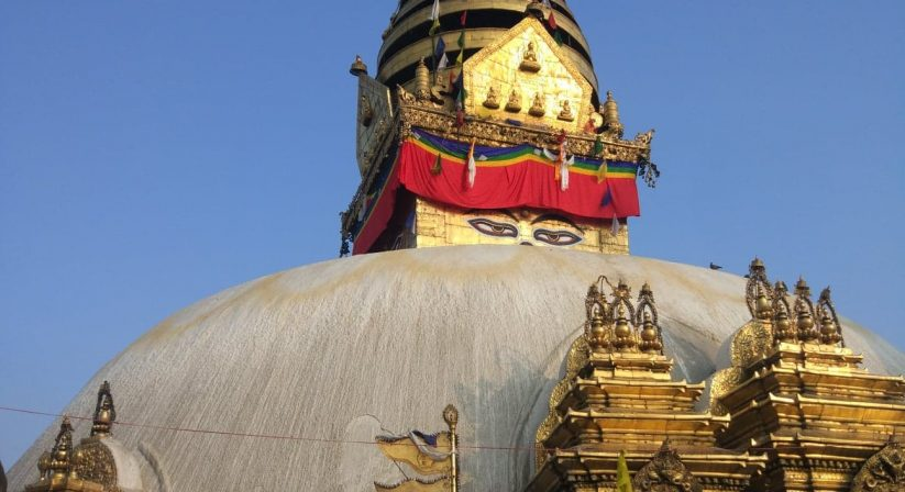Swoyambhunath stupa view