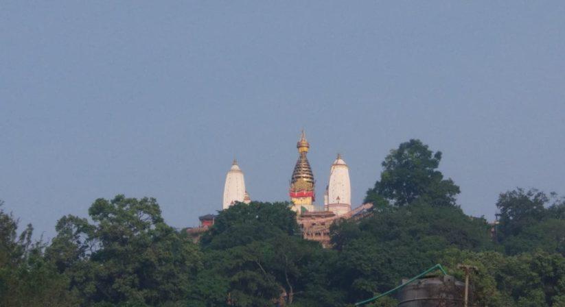 Swoyambhunath stupa view from Tulasi restaurant