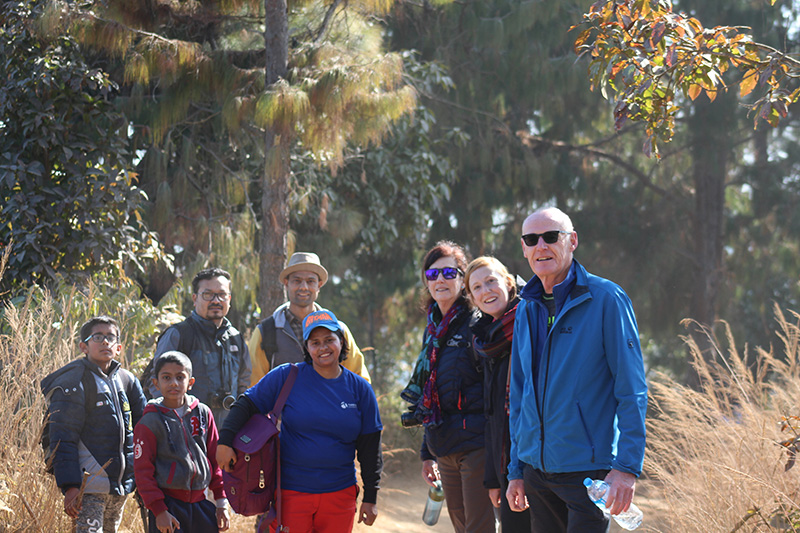 Tourist in Champadevi Hiking with group