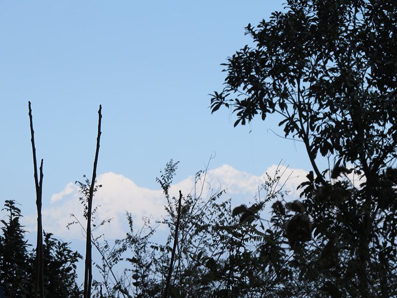 Mountain view druing hike in Champadevi hill