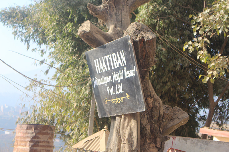 Dakshinkali Road, Parking of Hattiban Resort