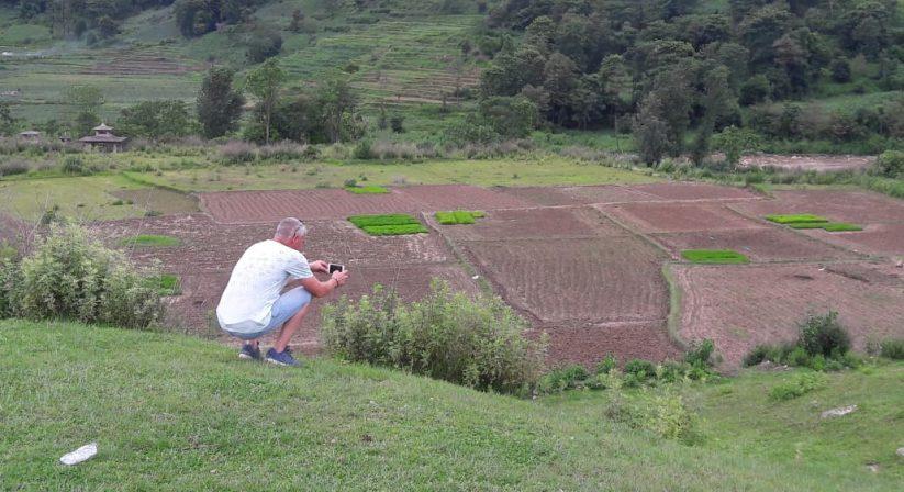 farming Khokana- Taudaha flat hike