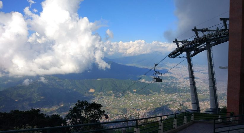 Chandragiri with cable car
