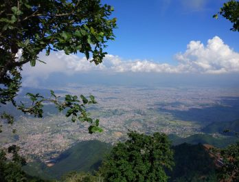 view of Kathmandu valley from top of chandragiri
